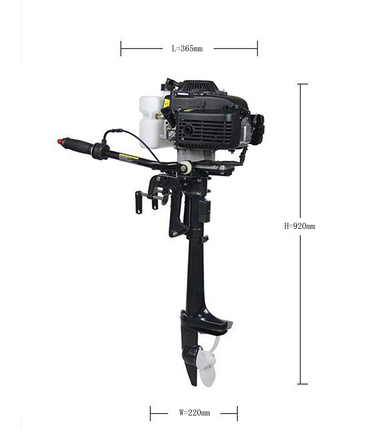 Sican 4HP Outboard Motor 4 Stroke Inflatable Fishing Boat Engine