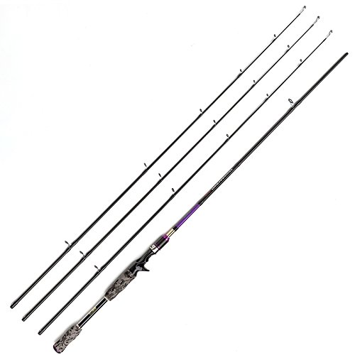JOHNCOO 7' carbon Baitcasting fishing rod with M MH ML power Bass fishing rod:
