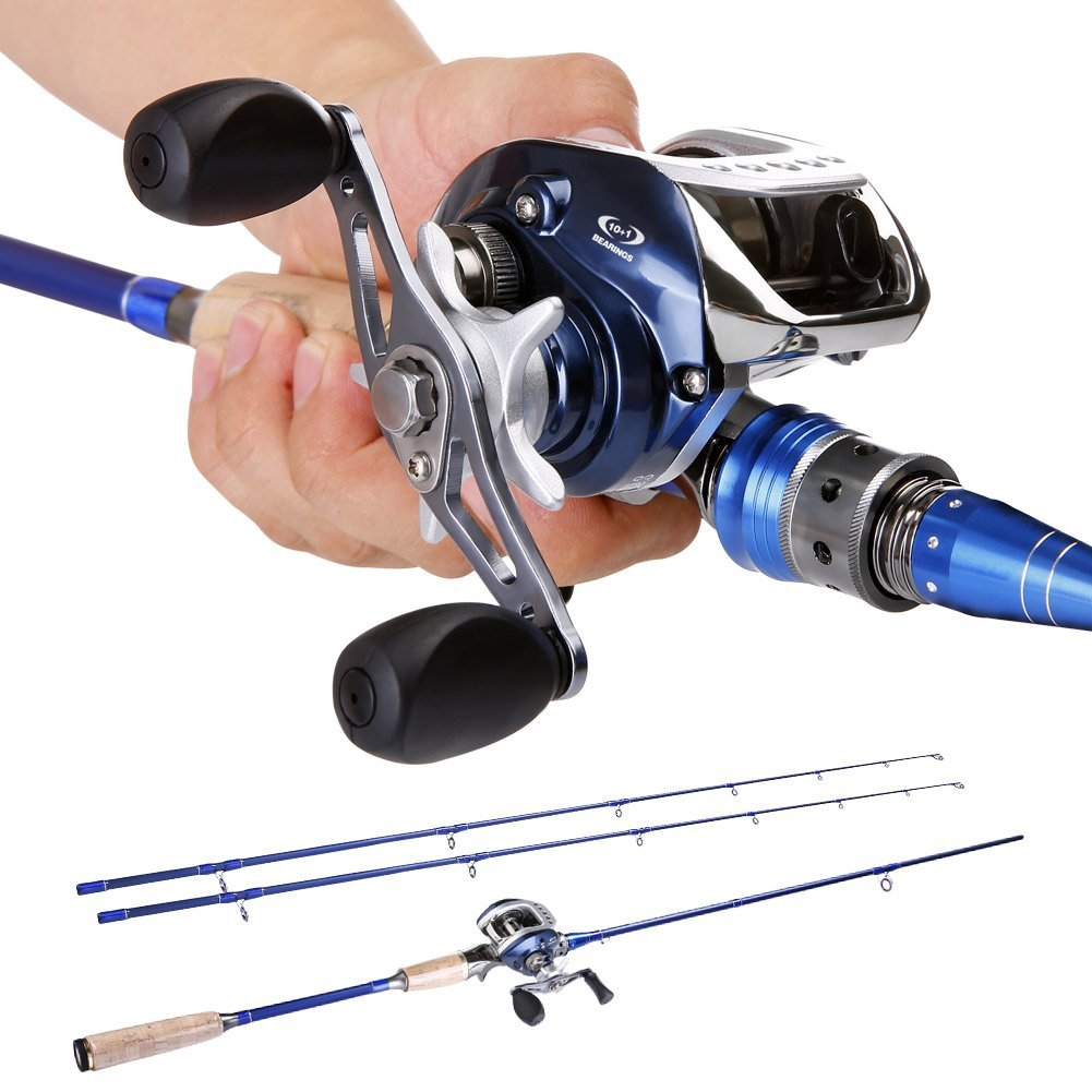 SOUGAYILANG 2-piece Baitcasting Fishing Rod: